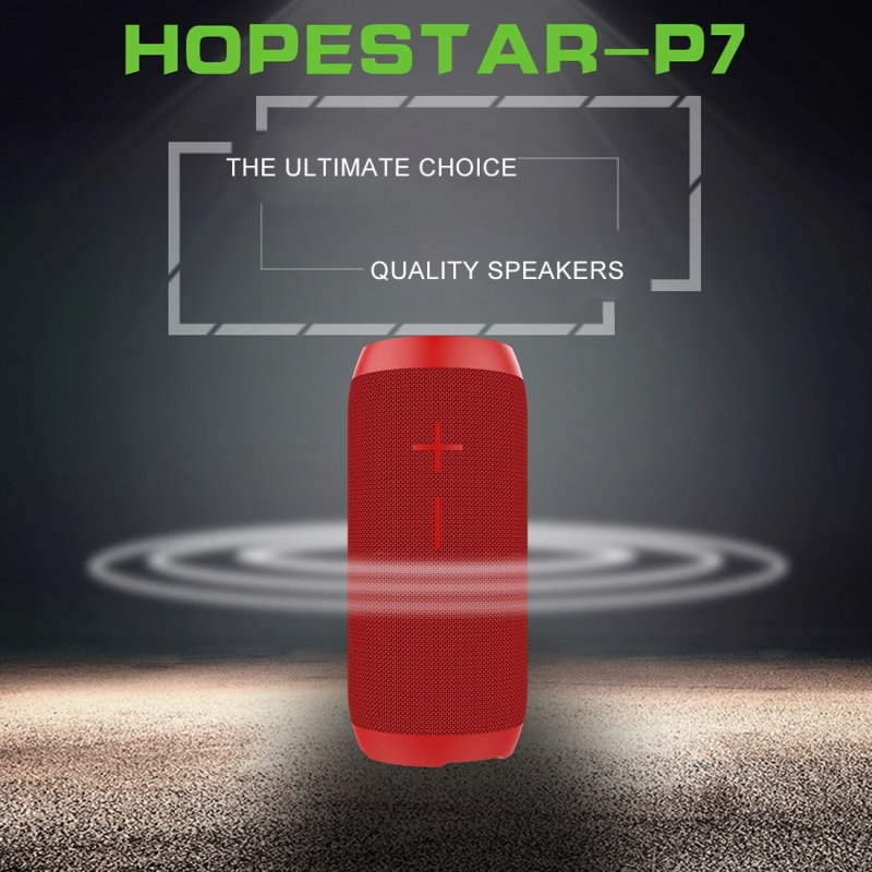 HOPESTAR P7 Mini Portable Rabbit Wireless Bluetooth Speaker, Built-in Mic, Support AUX / Hand Free Call / FM / TF (Blue)