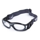 0860-01 Protective Sports Goggles Safety Basketball Glasses for Kids with Adjustable Strap (Black)