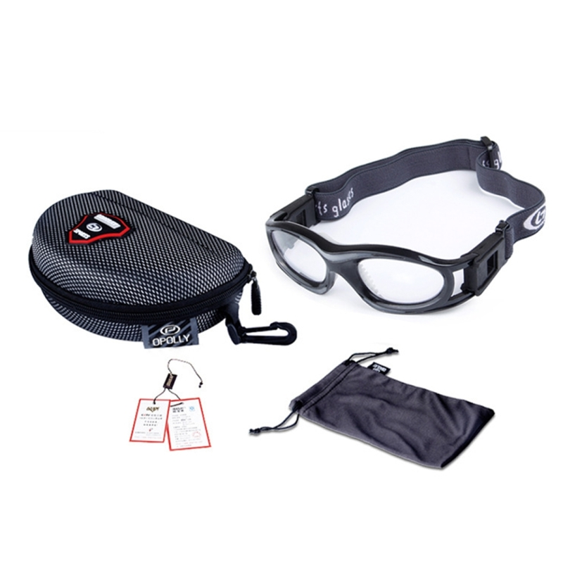 Protective Sports Goggles Safety Basketball Glasses for Kids with Adjustable Strap (Red)