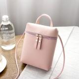 Ladies Simple Casual Shoulder Messenger Bag Small Change Mobile Phone Crossbody Bucket Bag