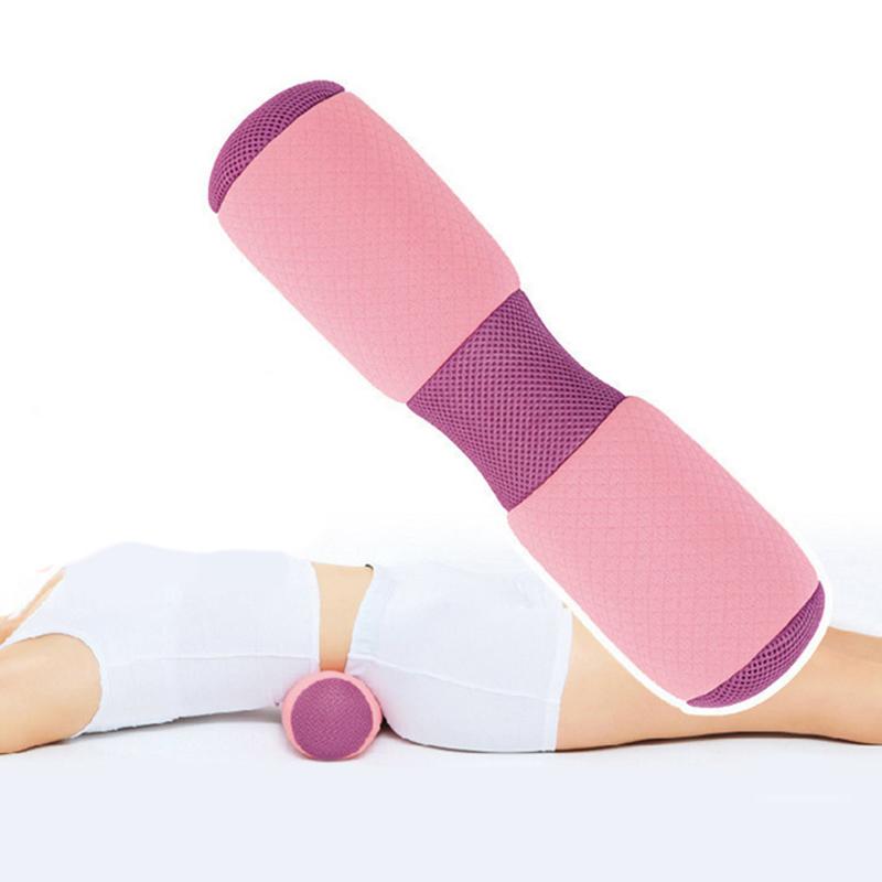 Mutifunctional Yoga Pillow Beautiful Buttocks Pelvis Pillow Cervical Lumbar Health Pillow Yoga Stick Waist (Pink)