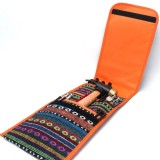 5 PCS Hiking Camping Ethnic Style Tent Hammers Bag Portable Tent Nail Pegs Storage Case Pouch