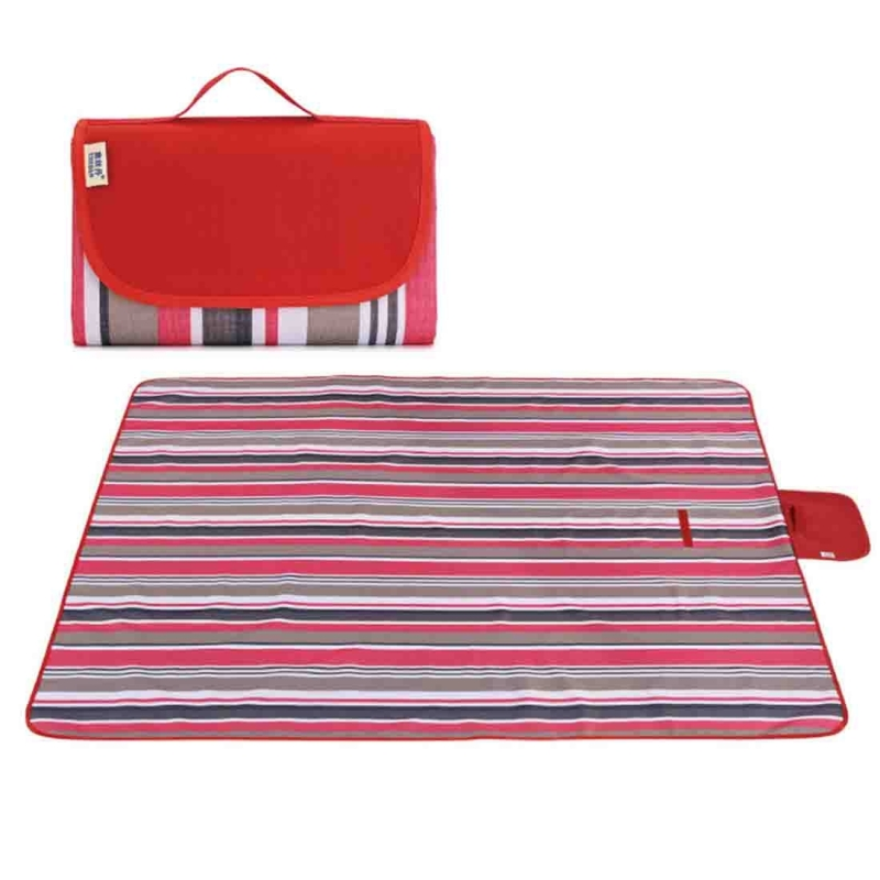 Portable Outdoor Widen Camping Mat Waterproof Oxford Cloth Foldable Lawn Moisture-proof Mat, Random Color and Style Delivery
