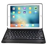 F19B for iPad 9.7 (2018) & iPad Air & Air 2 & iPad Pro 9.7 & New iPad 9.7 inch (2017) Ultra-thin ABS Horizontal Flip Case + Bluetooth Keyboard (Black)