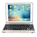 F19B for iPad 9.7 (2018) & iPad Air & Air 2 & iPad Pro 9.7 & New iPad 9.7 inch (2017) Ultra-thin ABS Horizontal Flip Case + Bluetooth Keyboard (Silver)