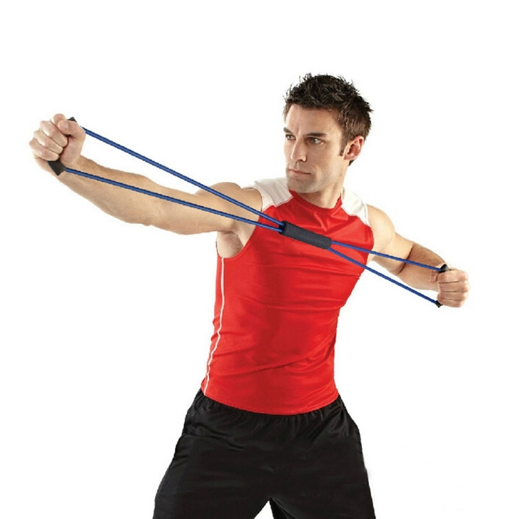 Chest Expander Tension Rope / Pull Rope Yoga Prati Fitness, Random Color