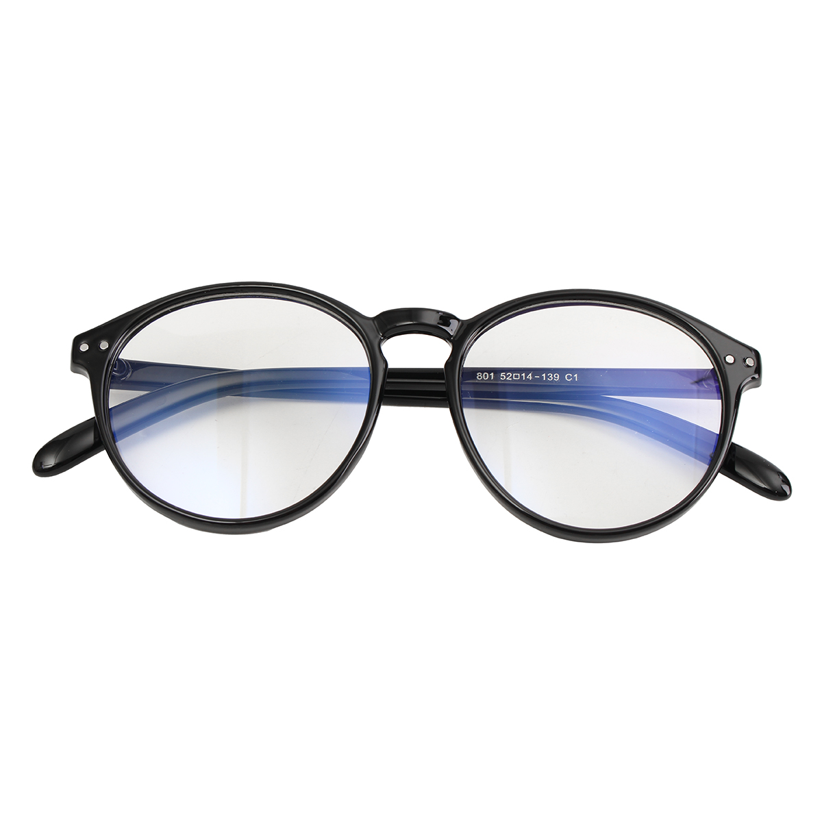 Vintage Round Eyeglass Frame Glasses Retro Spectacles Clear Lens ...