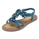 SOCOFY Women Bohemian Flower Casual Shoe Beach Flat Sandals