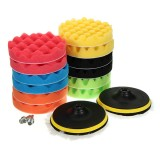 16pcs 6 Inch Polishing Buffing Pads Set Sponge Foam Waxing Pad Set
