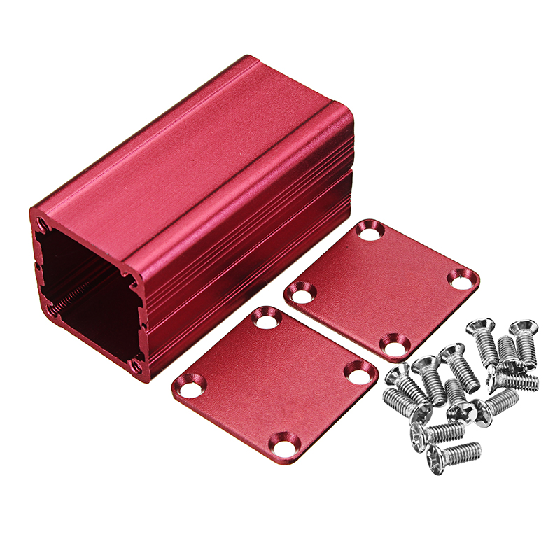red extruded aluminum project box electronic enclosure case diy heat rh alexnld com