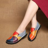 SOCOFY Handmade Casual Leather Soft Flat Loafers