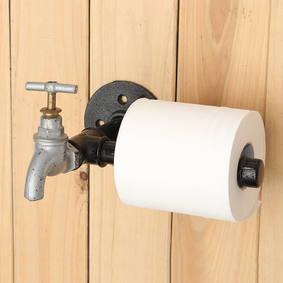 Industrial Iron Pipe Toilet Paper Tissue Roll Holder