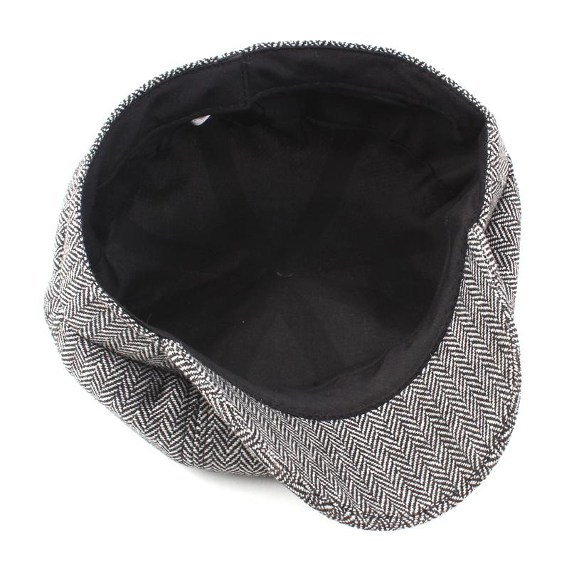 Men Cotton Newsboy Beret Cap Outdoor Casual Winter Cabbie Hat Adjustable Painter Berets Caps