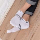 Men Summer Cotton Causal Short Socks Deodorant Sweat Five Toe Socks