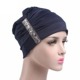 Womens Chemo Cap Soft Muslem Ethnic Beanie Sleep Turban Hat Headwear For Cancer Patients