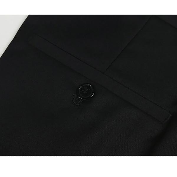Plus Size 30-48 Black Slim Straight Suit Pants Autumn Winter Casual Business Men's Dress Trousers