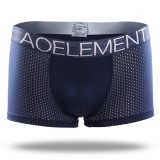 Ice Silk Mesh Breathable U Convex Soft Comfy Boxer Briefs Underwear for Men