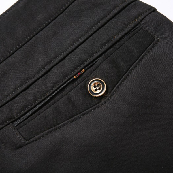 Autumn Winter Thermal Velvet Straight Suit Pants Middle-aged Men Casual Business Thick Warm Trousers