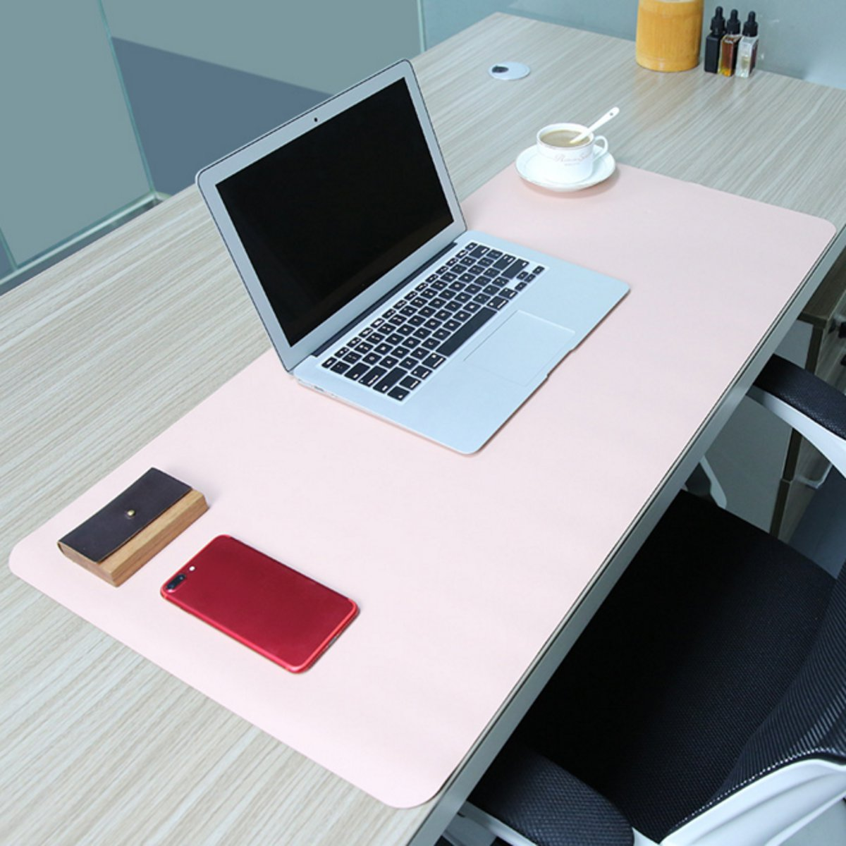 90x45cm Both Sides Two Colors Pu Leather Mouse Pad Mat