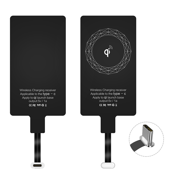 RAXFLY Qi Wireless Type C Charger Receiver Adapter For Oneplus 5T Xiaomi Mi  A1 Mix 2 HUAWEI Mate 10