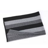 Men Winter Warm Cashmere Scarf Wool Striped Shawl Windproof Ultra Soft Neck Gaiters Gifts for Mens