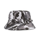 Men Summer Outdoor Fishing Bucket Hat Camouflage Breathable Climbing Sunshade Sun Hat