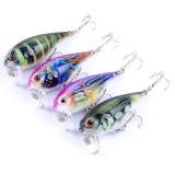 ZANLURE 4PCS 5.5CM 9G Fishing Lures Bass Crankbaits Fishing Bait Hook Lifelike 3D Eyes Lure