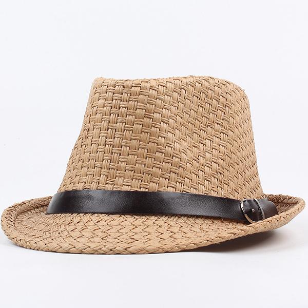 6e34b12d7a0 Men Women Classic Wide Brim Straw Cowboy Hat Outdoor Visor Fedora Beach  Panama Hats