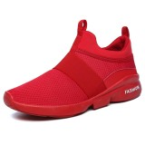 Men Comfy Elastic Band Ankle Cushion Slip On Sneakers Sports Shoes