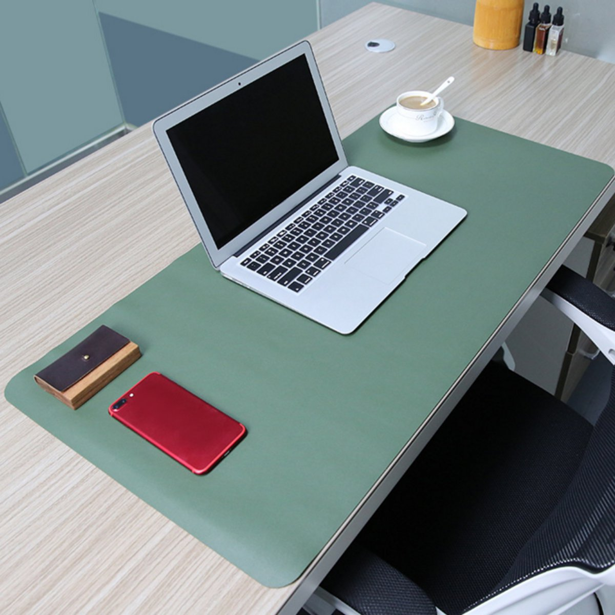 80x40cm Both Sides Two Colors Extended Pu Leather Mouse Pad Mat Large Office Gaming Desk