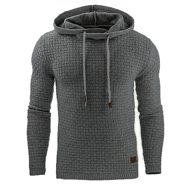 0cd5cef01d Fashion Men s Warm Jacquard Sweater Hoodies Casual Solid Color Long Sleeve Sport  Hoodies