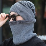 Mens Winter Warm Knit Woolen Face Mask Hat Beanie Cap Outdoors Riding Mask Scarf Hat Dual Use
