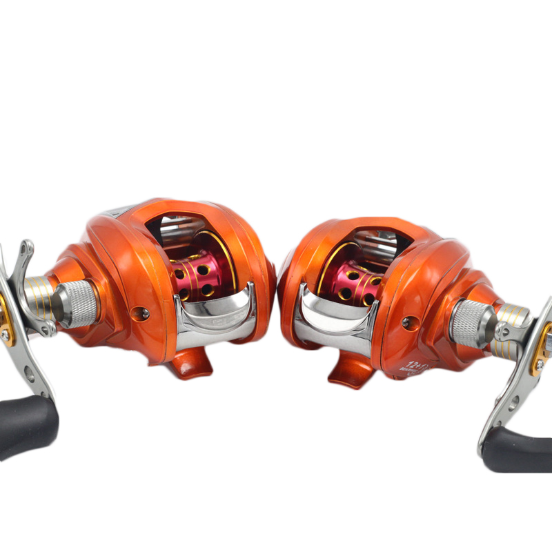 ZANLURE 6.3:1 12+1BB Metal Baitcasting Fishing Reel Left / Right Hand Lure Fishing Reel