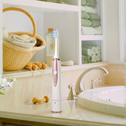 Mornwell D02 Sonic Wireless Electric Toothbrush Rechargeable IPX7 Waterproof Electric Toothbrush for