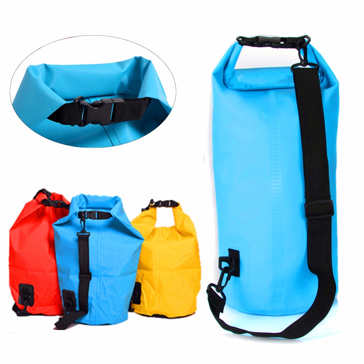 10L Waterproof Bag Storage Dry Pack Camping Hiking Swimming Rafting Kayak Float Pouch