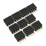 10pcs 2.54mm 2x4P 8P Double Row Female Straight Pin Header Needle Socket Pin Strip