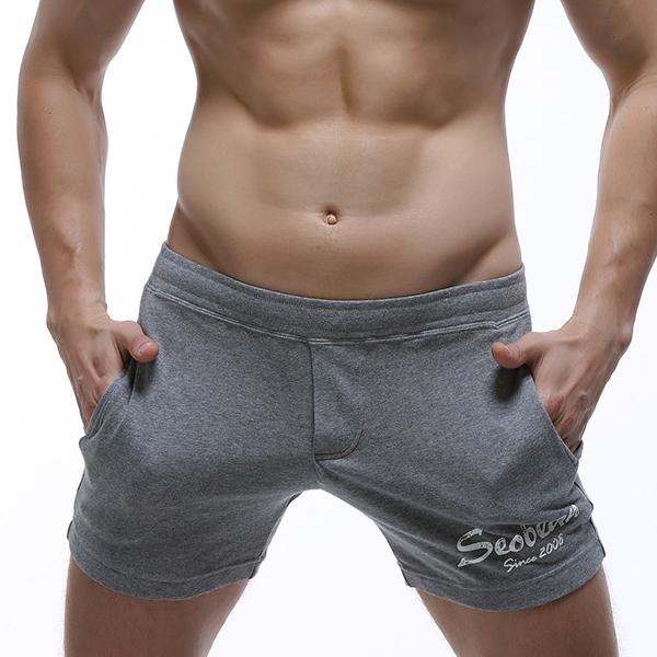 59e7f8cc4234e4 SEOBEAN Mens Pockets Arrow Shorts Home Sleepwear Casual Boxers ...