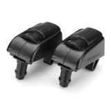 2pcs Front Windshield Washer Nozzle Spray Jet Plastic Black For Skoda Octavia