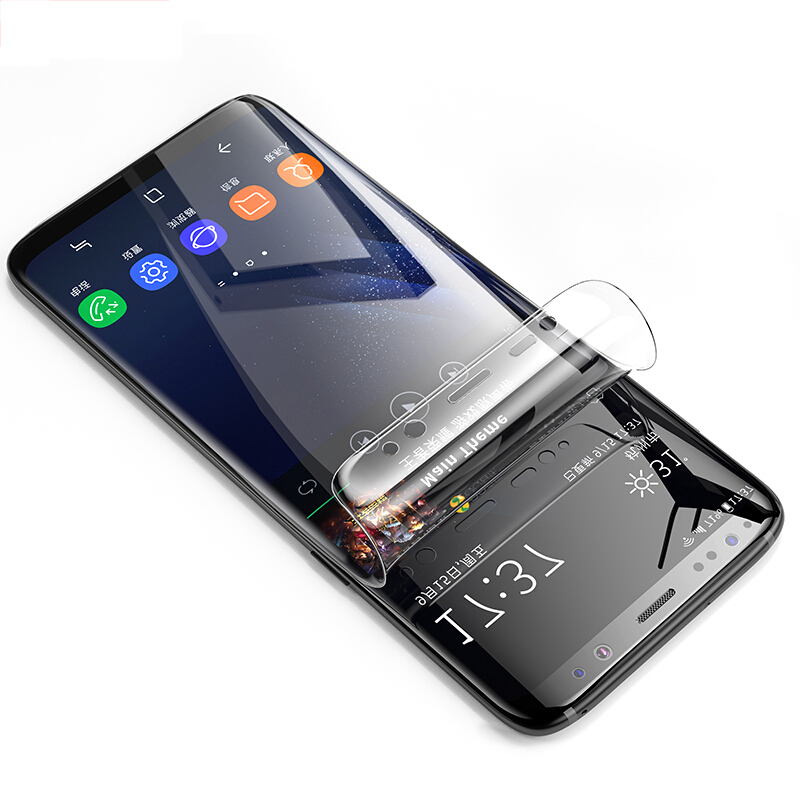 curved edge clear hd soft pet screen protector for samsung galaxy s9 plus. Black Bedroom Furniture Sets. Home Design Ideas