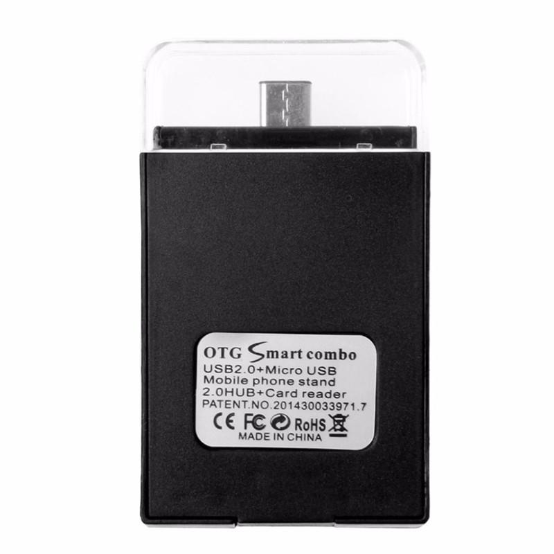 Bakeey Type-c Dual USB 2.0 Micro USB OTG Desktop Holder Memory Card TF Card Reader for Mobile Phone
