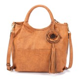 Brenice Women National Style Retro Floral Large Capacity Shoulder Crossbody Bag Handbag