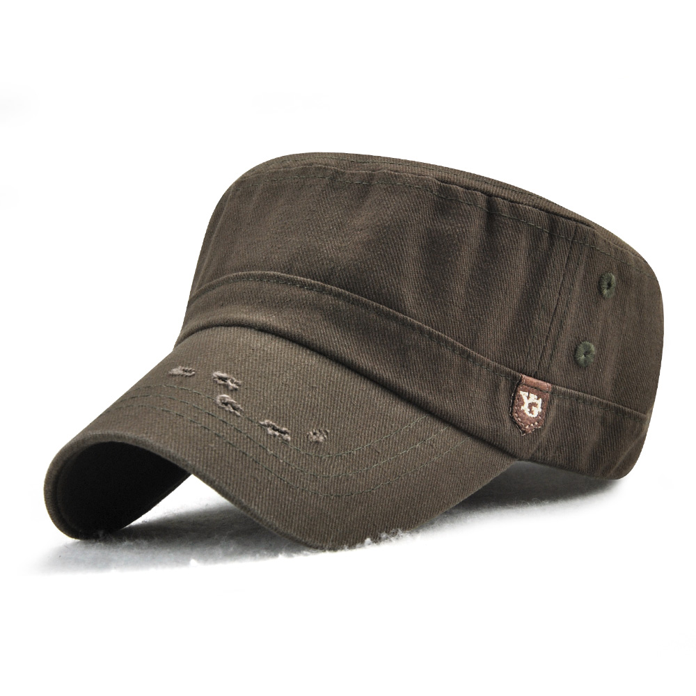 1ea5bb75b6d744 Dad Adjustable Military Flat Hats Outdoor Cotton Sunscreen Visor ...