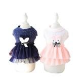 Cute Fox Dog Princess Party Dress Dog Cat Pet Skirt Dress Soft Cotton Summer Small Dog Dresses