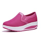 Women Rocker Sole Shoes Casual Breathable Slip On Sport Shoes