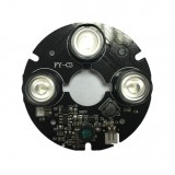 3pcs Array IR LED Spot Light 850nm Infrared Board for CCTV Hemisphere Dome Camera 63mm Diameter