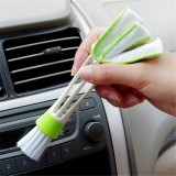Multi-function Double Head Dust Cleaning Brush Shutter Window Blinds Car Air Conditioning Vent Clean