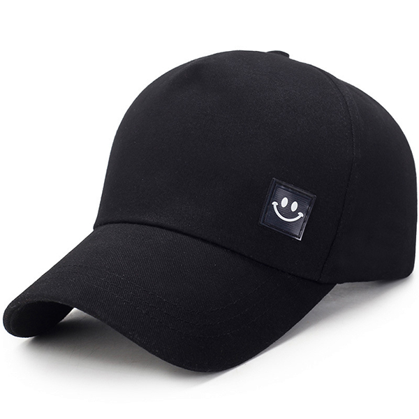 Unisex Canvas Smiling Face Sun Peaked Cap Outdoor Sport Trucker Caps for Men and Women