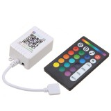 DC5-24V 6A Bluetooth APP Music Controller + 24 Keys RF Remote Control for RGB LED Strip Light