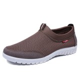 Large Size Men Lightweight Soft Sole Breathable Mesh Slip On Sneakers Shoes