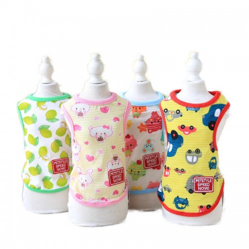 Summer Dog Clothes Cute Pet Vest Puppy Dog Cats Clothes for Teddy Poodle Small Dog Pet T-shirt